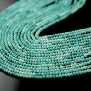 Shop Turquoise Faceted Beads! 1/2 strand faceted turquoise roundels small | Natural genuine faceted Turquoise beads for beading and jewelry making.  #jewelry #beads #beadedjewelry #diyjewelry #jewelrymaking #beadstore #beading #affiliate #ad