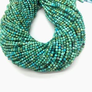 Shop Turquoise Faceted Beads! Natural Turquoise Beads Micro Faceted 2mm 3mm Tiny Green Blue Chinese Turquoise Small Turquoise Gemstone Semi Precious December Birthstone | Natural genuine faceted Turquoise beads for beading and jewelry making.  #jewelry #beads #beadedjewelry #diyjewelry #jewelrymaking #beadstore #beading #affiliate #ad