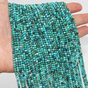 Shop Turquoise Faceted Beads! Natural Hubei Turquoise Faceted Round Beads,2mm 3mm Semi Precious Stone Beads,Good Quality Gemstone Beads,Small Loose Jewelry Beads. | Natural genuine faceted Turquoise beads for beading and jewelry making.  #jewelry #beads #beadedjewelry #diyjewelry #jewelrymaking #beadstore #beading #affiliate #ad