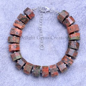 Shop Unakite Bracelets! Unakite Fancy Tire Rondelle Briolettes Bracelet, Unakite Beaded Bracelet, Unakite Gemstone Bracelet, Girls- Women's Bracelet, Gift For Her | Natural genuine Unakite bracelets. Buy crystal jewelry, handmade handcrafted artisan jewelry for women.  Unique handmade gift ideas. #jewelry #beadedbracelets #beadedjewelry #gift #shopping #handmadejewelry #fashion #style #product #bracelets #affiliate #ad