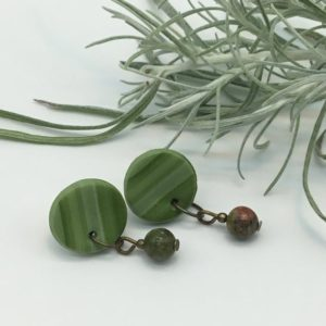 Shop Unakite Earrings! unakite earrings,olive green earrings, | Natural genuine Unakite earrings. Buy crystal jewelry, handmade handcrafted artisan jewelry for women.  Unique handmade gift ideas. #jewelry #beadedearrings #beadedjewelry #gift #shopping #handmadejewelry #fashion #style #product #earrings #affiliate #ad