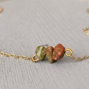 Shop Unakite Necklaces! UNAKITE JASPER NECKLACE – Unakite Crystal Necklace – Jasper Stone Necklace – Unakite Jewelry Gold- Third Eye Necklace – Healing Necklace | Natural genuine Unakite necklaces. Buy crystal jewelry, handmade handcrafted artisan jewelry for women.  Unique handmade gift ideas. #jewelry #beadednecklaces #beadedjewelry #gift #shopping #handmadejewelry #fashion #style #product #necklaces #affiliate #ad