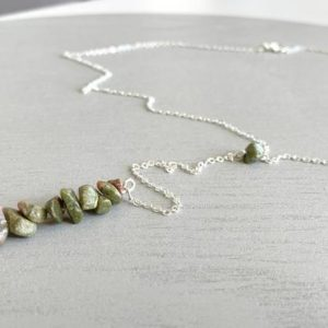 Shop Unakite Necklaces! NATURAL JASPER NECKLACE – Raw Crystal Necklace – Unakite Jasper Necklace – Third Eye Chakra Necklace – Crystal Healing Gift -Empath Necklace | Natural genuine Unakite necklaces. Buy crystal jewelry, handmade handcrafted artisan jewelry for women.  Unique handmade gift ideas. #jewelry #beadednecklaces #beadedjewelry #gift #shopping #handmadejewelry #fashion #style #product #necklaces #affiliate #ad