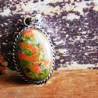 Unakite Pendant, Designer Pendant, Handmade Pendant, Sterling Silver Pendant, Unakite Gemstone Pendant, Unakite Jewelry, Gift Pendant, P-161 | Natural genuine Gemstone jewelry. Buy crystal jewelry, handmade handcrafted artisan jewelry for women.  Unique handmade gift ideas. #jewelry #beadedjewelry #beadedjewelry #gift #shopping #handmadejewelry #fashion #style #product #jewelry #affiliate #ad
