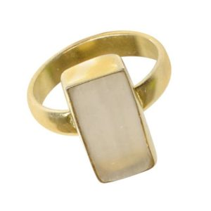 Shop Selenite Rings! White Selenite Ring – Gold Plated Ring – Gemstone Ring – Adjustable Ring – Fashion Ring – Gift For Her –  Christmas Ring – Women Ring | Natural genuine Selenite rings, simple unique handcrafted gemstone rings. #rings #jewelry #shopping #gift #handmade #fashion #style #affiliate #ad