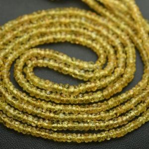 16 Inches Strand, superb-finest Quality, natural Yellow Sapphire Faceted Rondelles, size.2.75-3.5m | Natural genuine beads Array beads for beading and jewelry making.  #jewelry #beads #beadedjewelry #diyjewelry #jewelrymaking #beadstore #beading #affiliate #ad