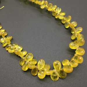 Shop Yellow Sapphire Beads! Yellow Sapphire Faceted Drops Natural Gemstone | Natural genuine faceted Yellow Sapphire beads for beading and jewelry making.  #jewelry #beads #beadedjewelry #diyjewelry #jewelrymaking #beadstore #beading #affiliate #ad