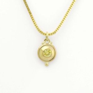 Shop Yellow Sapphire Pendants! Refreshing Lemon Yellow Sapphire Charm in Luxurious 14K Gold | Natural genuine Yellow Sapphire pendants. Buy crystal jewelry, handmade handcrafted artisan jewelry for women.  Unique handmade gift ideas. #jewelry #beadedpendants #beadedjewelry #gift #shopping #handmadejewelry #fashion #style #product #pendants #affiliate #ad
