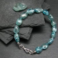 Gem Blue Zircon Genuine Bracelet ~ 7 Inches ~ 10mm Tumbled Beads | Natural genuine Gemstone jewelry. Buy crystal jewelry, handmade handcrafted artisan jewelry for women.  Unique handmade gift ideas. #jewelry #beadedjewelry #beadedjewelry #gift #shopping #handmadejewelry #fashion #style #product #jewelry #affiliate #ad