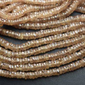 Shop Zircon Beads! 8 Inches Strand,Finest Quality,Natural Champange Zircon Faceted Button,Size 4.5-5mm   Natural genuine faceted Zircon beads for beading and jewelry making.  #jewelry #beads #beadedjewelry #diyjewelry #jewelrymaking #beadstore #beading #affiliate #ad