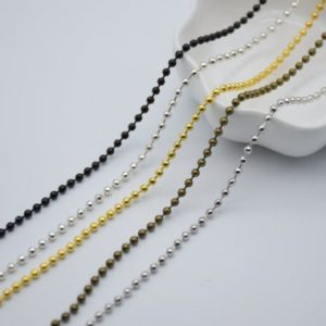 Shop Chain for Jewelry Making! 10 Meters 2.4mm Metal Ball Chain, metal Bead Chain, metal Chain, metal Jewelry Chain, metal Necklace Chain | Shop jewelry making and beading supplies, tools & findings for DIY jewelry making and crafts. #jewelrymaking #diyjewelry #jewelrycrafts #jewelrysupplies #beading #affiliate #ad