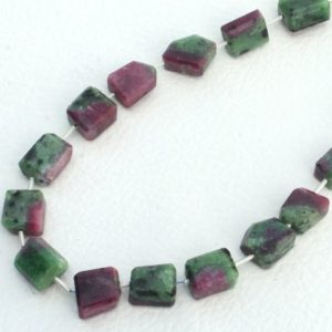 Shop Ruby Zoisite Chip & Nugget Beads! 10 pieces Natural ruby zoisite gemstone nuggets, straight drill gemstone nuggets, natural gemstone, AAA quality ruby beads, size 10×14 mm | Natural genuine chip Ruby Zoisite beads for beading and jewelry making.  #jewelry #beads #beadedjewelry #diyjewelry #jewelrymaking #beadstore #beading #affiliate #ad
