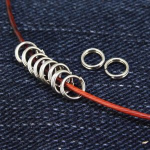 Shop Jump Rings! 100Beads Charm 2strands Jump Rings Silver Plated Victorian Connector Beads , Clasp End, Jewelry end Link Finding—– 5mm —– 100Pieces 2D | Shop jewelry making and beading supplies, tools & findings for DIY jewelry making and crafts. #jewelrymaking #diyjewelry #jewelrycrafts #jewelrysupplies #beading #affiliate #ad