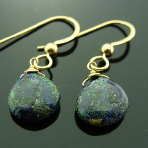 Shop Azurite Earrings! 14K Gold AZURITE MALACHITE Drop Earrings  Gift | Natural genuine Azurite earrings. Buy crystal jewelry, handmade handcrafted artisan jewelry for women.  Unique handmade gift ideas. #jewelry #beadedearrings #beadedjewelry #gift #shopping #handmadejewelry #fashion #style #product #earrings #affiliate #ad