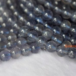 "15.5""  Natural 6mm iolite stone round beads, light purple blue gemstone,High quality semi precious stone,jewelry wholesaler from China WWW 