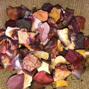 Shop Raw & Rough Mookaite Jasper Stones! 3000 Carat Lots of Mookaite Jasper Rough + a FREE Faceted Gemstone | Natural genuine stones & crystals in various shapes & sizes. Buy raw cut, tumbled, or polished gemstones for making jewelry or crystal healing energy vibration raising reiki stones. #crystals #gemstones #crystalhealing #crystalsandgemstones #energyhealing #affiliate #ad