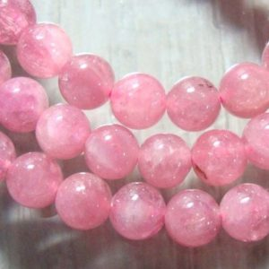 """Shop Pink Tourmaline Beads! 4.8-5mm, Full Strand, 16"""" Inch, Pretty pink natural tourmaline smooth round beads, 25% sale 