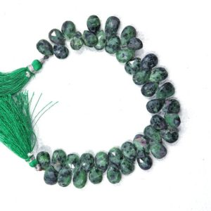 Shop Ruby Zoisite Bead Shapes! 40-Pieces Ruby Josite  gemstone beads Size 10X8-13X8 MM Pear shape beads drilled natural Ruby beads facetead Ruby Josite beads for jewelry | Natural genuine other-shape Ruby Zoisite beads for beading and jewelry making.  #jewelry #beads #beadedjewelry #diyjewelry #jewelrymaking #beadstore #beading #affiliate #ad