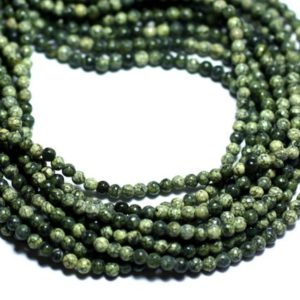 Shop Serpentine Round Beads! 40pc – Beads Of Stone – Serpentine 2mm – 8741140008007 Balls   Natural genuine round Serpentine beads for beading and jewelry making.  #jewelry #beads #beadedjewelry #diyjewelry #jewelrymaking #beadstore #beading #affiliate #ad