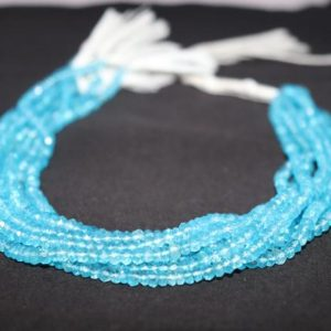 Shop Topaz Rondelle Beads! 4mm London Blue Topaz Faceted Rondelle Beads, Natural London Topaz Faceted Beads, London BT beads, AAA+ Topaz Gemstone Beads Strand | Natural genuine rondelle Topaz beads for beading and jewelry making.  #jewelry #beads #beadedjewelry #diyjewelry #jewelrymaking #beadstore #beading #affiliate #ad