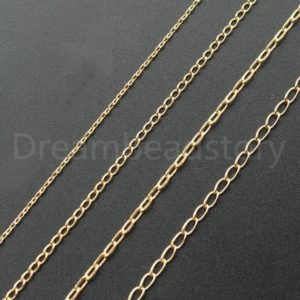 Shop Chain for Jewelry Making! 5-50 Meters Kc Gold Plated Brass Cable Chain / Metal Necklace Bracelet Jewelry Chains / Rolo Link Chain Finding Wholesale | Shop jewelry making and beading supplies, tools & findings for DIY jewelry making and crafts. #jewelrymaking #diyjewelry #jewelrycrafts #jewelrysupplies #beading #affiliate #ad