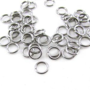 Shop Jump Rings! 6mm Stainless Steel Jump Rings 18g, 50pcs silver jumprings, 6mm jump rings for chainmail, strong open jump rings, charm connector links | Shop jewelry making and beading supplies, tools & findings for DIY jewelry making and crafts. #jewelrymaking #diyjewelry #jewelrycrafts #jewelrysupplies #beading #affiliate #ad