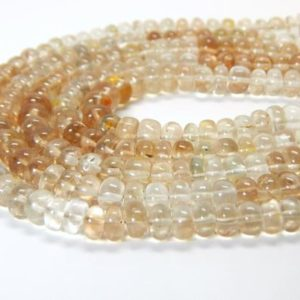 Shop Topaz Rondelle Beads! 7 Inches Smooth Imperial Topaz Rondelle Beads Natural Imperial Topaz Gemstone Beads Size 5 To 6 mm Top Quality | Natural genuine rondelle Topaz beads for beading and jewelry making.  #jewelry #beads #beadedjewelry #diyjewelry #jewelrymaking #beadstore #beading #affiliate #ad