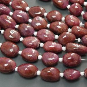 Shop Ruby Chip & Nugget Beads! 8Inch 100%Natural Ruby Smooth Tumble,Nuggets,Loose Stone,Handmade,Irregular Shape,Gemstone For Making Jewelry PME-TU4 | Natural genuine chip Ruby beads for beading and jewelry making.  #jewelry #beads #beadedjewelry #diyjewelry #jewelrymaking #beadstore #beading #affiliate #ad