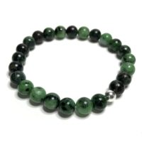8mm Ruby Zoisite Bracelet. High Quality Handmade Genuine Grade A Healing Crystal Jewellery. Crystal Bracelet. Aries And Aquarius Birthstone. | Natural genuine Gemstone jewelry. Buy crystal jewelry, handmade handcrafted artisan jewelry for women.  Unique handmade gift ideas. #jewelry #beadedjewelry #beadedjewelry #gift #shopping #handmadejewelry #fashion #style #product #jewelry #affiliate #ad