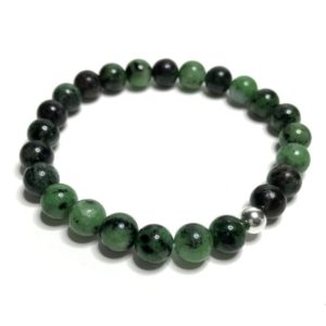 Shop Ruby Zoisite Bracelets! 8mm Ruby Zoisite Bracelet. High Quality Handmade Genuine Grade A Healing Crystal Jewellery. Crystal Bracelet. Aries And Aquarius Birthstone. | Natural genuine Ruby Zoisite bracelets. Buy crystal jewelry, handmade handcrafted artisan jewelry for women.  Unique handmade gift ideas. #jewelry #beadedbracelets #beadedjewelry #gift #shopping #handmadejewelry #fashion #style #product #bracelets #affiliate #ad