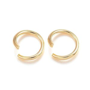 Shop Jump Rings! 8mm stainless steel jumprings – Gold color jump rings – 304 stainless steel – open jumpring – round jumprings – 8mm split jump rings (2455) | Shop jewelry making and beading supplies, tools & findings for DIY jewelry making and crafts. #jewelrymaking #diyjewelry #jewelrycrafts #jewelrysupplies #beading #affiliate #ad