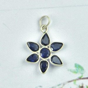 Shop Iolite Pendants! 925 Sterling Silver Pendant, White Plating, Natural Iolite Pendant, Women Pendant, Gemstone Jewelry, Iolite Pendant, Silver Jewelry   Natural genuine Iolite pendants. Buy crystal jewelry, handmade handcrafted artisan jewelry for women.  Unique handmade gift ideas. #jewelry #beadedpendants #beadedjewelry #gift #shopping #handmadejewelry #fashion #style #product #pendants #affiliate #ad