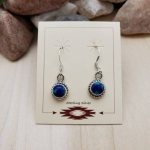 Shop Azurite Earrings! 925ForHer Small Azurite Malachite Earrings | Sterling Silver Azurite Earrings | Small Azurite Dangle Earrings | Small Southwestern Jewelry | Natural genuine Azurite earrings. Buy crystal jewelry, handmade handcrafted artisan jewelry for women.  Unique handmade gift ideas. #jewelry #beadedearrings #beadedjewelry #gift #shopping #handmadejewelry #fashion #style #product #earrings #affiliate #ad
