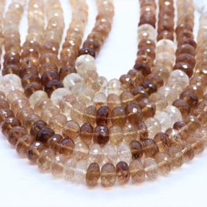 Shop Topaz Rondelle Beads! AAA quality Imperial Topaz faceted rondelle beads  Imperial Topaz faceted gemstone  Natural Imperial Topaz beads  Topaz rondelle shape beads | Natural genuine rondelle Topaz beads for beading and jewelry making.  #jewelry #beads #beadedjewelry #diyjewelry #jewelrymaking #beadstore #beading #affiliate #ad