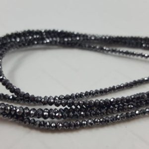 Shop Diamond Bead Shapes! AAA Quality Black Diamond Beads, 15 Inches Long strand -14cts 2mm 100% Natural | Natural genuine other-shape Diamond beads for beading and jewelry making.  #jewelry #beads #beadedjewelry #diyjewelry #jewelrymaking #beadstore #beading #affiliate #ad