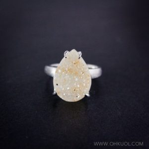 Shop Agate Rings! 50% OFF SALE – Honey Teardrop Agate Druzy Ring – Choose Your Druzy – Sterling Silver | Natural genuine Agate rings, simple unique handcrafted gemstone rings. #rings #jewelry #shopping #gift #handmade #fashion #style #affiliate #ad