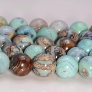 Shop Agate Round Beads! Terra Agate ROBIN'S EGG Aqua Blue Gemstone Grade AAA  6mm 8mm 10mm Round Loose Beads (A239) | Natural genuine round Agate beads for beading and jewelry making.  #jewelry #beads #beadedjewelry #diyjewelry #jewelrymaking #beadstore #beading #affiliate #ad