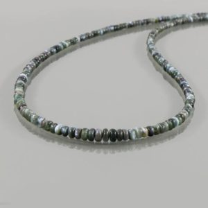 Shop Alexandrite Necklaces! Alexandrite Cat's Eye Necklace, Rare Alexandrite Cat's Eye Smooth Rondelle Beads Necklace, AAA Grade Alexandrite Gemstone Silver Necklace | Natural genuine Alexandrite necklaces. Buy crystal jewelry, handmade handcrafted artisan jewelry for women.  Unique handmade gift ideas. #jewelry #beadednecklaces #beadedjewelry #gift #shopping #handmadejewelry #fashion #style #product #necklaces #affiliate #ad