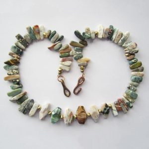 Shop Ocean Jasper Necklaces! Amazing and Colorful Ocean Jasper Necklace   Natural genuine Ocean Jasper necklaces. Buy crystal jewelry, handmade handcrafted artisan jewelry for women.  Unique handmade gift ideas. #jewelry #beadednecklaces #beadedjewelry #gift #shopping #handmadejewelry #fashion #style #product #necklaces #affiliate #ad