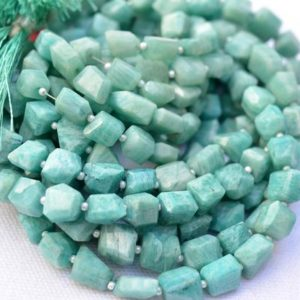 Shop Amazonite Chip & Nugget Beads! Amazonite Faceted Beads, Box Shape Amazonite Nuggets, Natural Gemstone Bead, 8mm – 10mm Tumble Strand #PP3222   Natural genuine chip Amazonite beads for beading and jewelry making.  #jewelry #beads #beadedjewelry #diyjewelry #jewelrymaking #beadstore #beading #affiliate #ad
