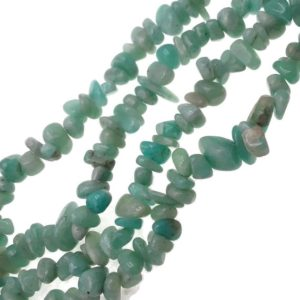"""Shop Amazonite Chip & Nugget Beads! Green Amazonite Irregular Pebble Nugget Chips Beads 7-8mm 34"""" Strand   Natural genuine chip Amazonite beads for beading and jewelry making.  #jewelry #beads #beadedjewelry #diyjewelry #jewelrymaking #beadstore #beading #affiliate #ad"""