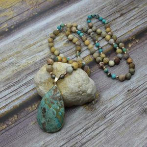Shop Amazonite Jewelry! Natural Raw Amazonite Gemstone Healing Necklace-Inspirational Balance Calming Spiritual Protection Meditation Anxiety Stress Relief Necklace | Natural genuine Amazonite jewelry. Buy crystal jewelry, handmade handcrafted artisan jewelry for women.  Unique handmade gift ideas. #jewelry #beadedjewelry #beadedjewelry #gift #shopping #handmadejewelry #fashion #style #product #jewelry #affiliate #ad