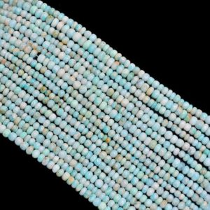 Shop Amazonite Rondelle Beads! Amazonite 5mm-8mm Smooth Rondelle Beads | 13inch Strand | Natural Amazonite Semiprecious Gemstone Far Size Rondelle Beads for Jewelry Making | Natural genuine rondelle Amazonite beads for beading and jewelry making.  #jewelry #beads #beadedjewelry #diyjewelry #jewelrymaking #beadstore #beading #affiliate #ad