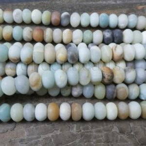 matte amazonite rondell beads – blue amazonite gemstone beads – colorful amazonite stone beads supplies – rondelle stone beads – 15 inch | Natural genuine rondelle Amazonite beads for beading and jewelry making.  #jewelry #beads #beadedjewelry #diyjewelry #jewelrymaking #beadstore #beading #affiliate #ad