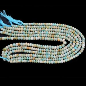 Shop Amazonite Rondelle Beads! Amazonite Smooth Rondelle Beads | 6mm-8mm Beads 13inch Strand | Natural Amazonite Semi Precious Gemstone Rondelle Beads for Jewelry Making | | Natural genuine rondelle Amazonite beads for beading and jewelry making.  #jewelry #beads #beadedjewelry #diyjewelry #jewelrymaking #beadstore #beading #affiliate #ad
