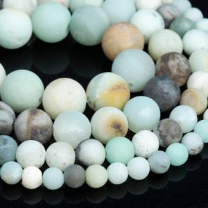 Shop Amazonite Round Beads! Genuine Natural Matte Multicolor Amazonite Loose Beads Round Shape 6mm 8mm 10mm | Natural genuine round Amazonite beads for beading and jewelry making.  #jewelry #beads #beadedjewelry #diyjewelry #jewelrymaking #beadstore #beading #affiliate #ad