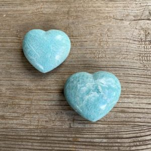 Shop Amazonite Shapes! Amazonite hearts WS7858A WS7858B | Natural genuine stones & crystals in various shapes & sizes. Buy raw cut, tumbled, or polished gemstones for making jewelry or crystal healing energy vibration raising reiki stones. #crystals #gemstones #crystalhealing #crystalsandgemstones #energyhealing #affiliate #ad