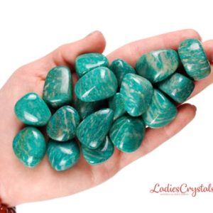 Shop Tumbled Amazonite Crystals & Pocket Stones! One Amazonite Russia Tumbled Stone, Amazonite Tumbled Stones, Zodiac Amazonite Stones, Healing Amazonite Stones, Tumbled Stones Amazonite | Natural genuine stones & crystals in various shapes & sizes. Buy raw cut, tumbled, or polished gemstones for making jewelry or crystal healing energy vibration raising reiki stones. #crystals #gemstones #crystalhealing #crystalsandgemstones #energyhealing #affiliate #ad