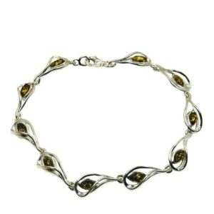 Shop Amber Bracelets! Autumn Queen' Amber Bracelet in Sterling Silver Bracelet Amber, AE342 | Natural genuine Amber bracelets. Buy crystal jewelry, handmade handcrafted artisan jewelry for women.  Unique handmade gift ideas. #jewelry #beadedbracelets #beadedjewelry #gift #shopping #handmadejewelry #fashion #style #product #bracelets #affiliate #ad