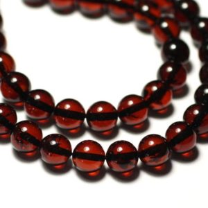 Shop Amber Bead Shapes! 20cm approx – natural amber beads 25pc yarn balls 8mm Burgundy Red Black | Natural genuine other-shape Amber beads for beading and jewelry making.  #jewelry #beads #beadedjewelry #diyjewelry #jewelrymaking #beadstore #beading #affiliate #ad